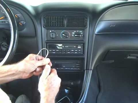 Ford Mustang Stereo and CD Removal and Repair 1994-2000