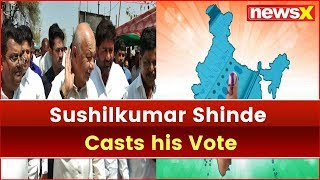 Lok Sabha Election 2019, Phase 2: Sushilkumar Shinde Casts his Vote, Vote to Fight for Secularism - NEWSXLIVE
