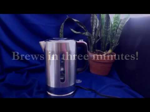 Brewberry Premium Cordless Stainless Steel Electric Kettle with Auto Shut Off Function