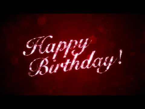 Happy Birthday on Red - HD Background Loop