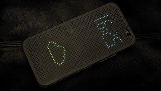 Обзор чехла HTC Dot View для One (M8): защита с дырками
