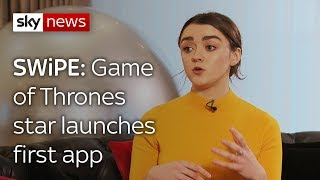 Swipe: GoT star Maisie Williams exclusive & the headset that makes you lose weight - SKYNEWS