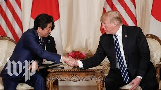 Trump hosts a press conference with Prime Minister of Japan - WASHINGTONPOST