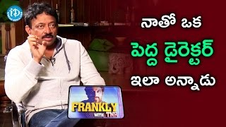 RGV About His Movie Making Style || RGV Interview || Frankly With TNR || Talking Movies With iDream - IDREAMMOVIES