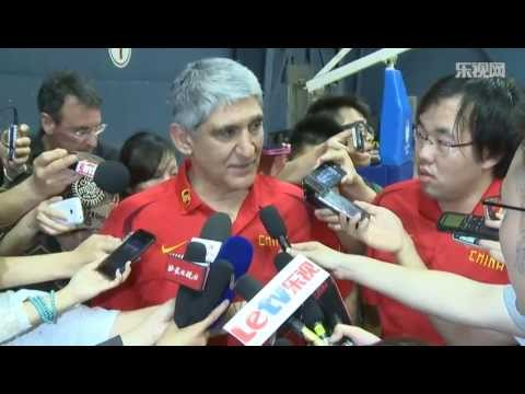 (English Interview) First opening training day of Giannakis' China NT
