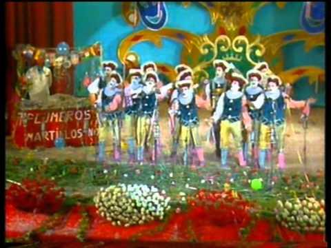 Sesión de Final, la agrupación Charlatanes de feria actúa hoy en la modalidad de Comparsas.