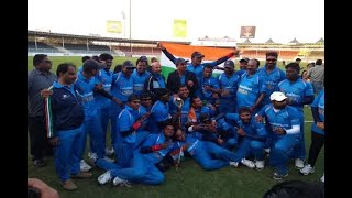 In Graphics: virender sehwag congratulates team india after winning blind cricket world cu - ABPNEWSTV
