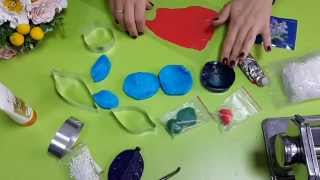 Как работать с молдами и вайнерами для цветов