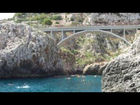 Tuffo pazzo dal Ponte Ciolo Santa Maria di Leuca (Salento)