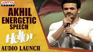 Akhil Speech @ HELLO! Movie Audio Launch | Akhil Akkineni, Kalyani Priyadarshan - ADITYAMUSIC