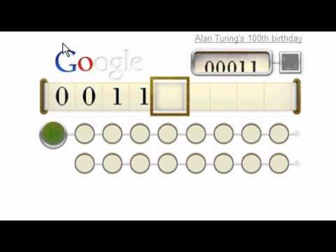 Cómo se usa el doodle de Alan Turing