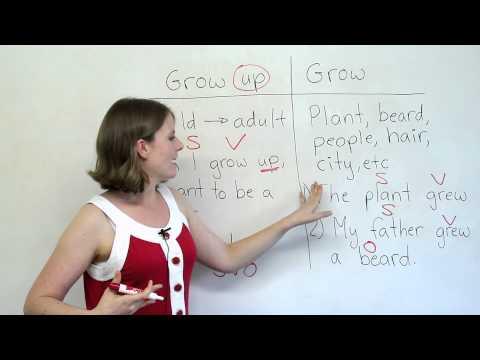Grammar Mistakes - GROW or GROW UP?