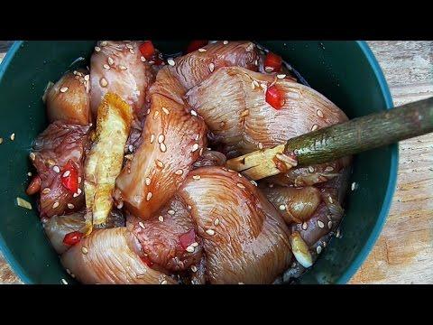 Saftige Hähnchenbrust im Reisblatt nach asiatischer Art [Waldläufer Rezept]
