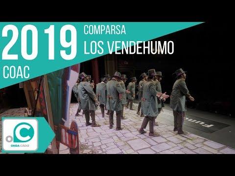La agrupación Los vendehumo llega al COAC 2019 en la modalidad de Comparsas. Primera actuación de la agrupación para esta modalidad.