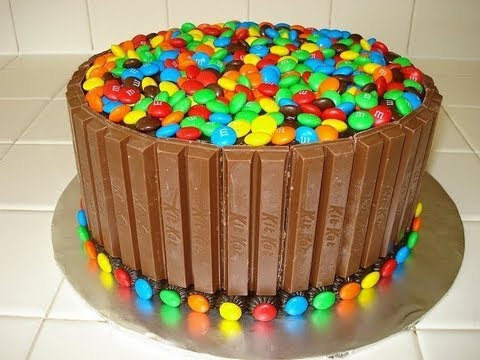 Kit Kat & M&M Cake HOW TO VIDEO