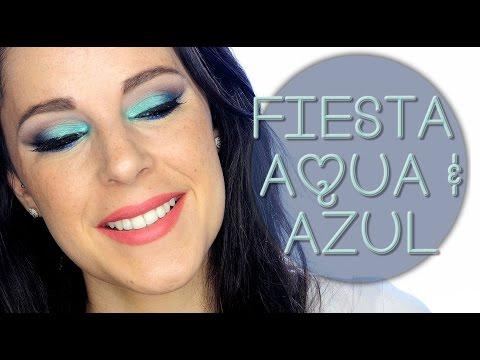Tutorial Maquillaje Navidad Aqua y azul | Silvia Quiros