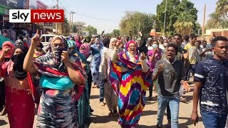 Three killed as thousands of protesters gather in Sudan overnight - SKYNEWS