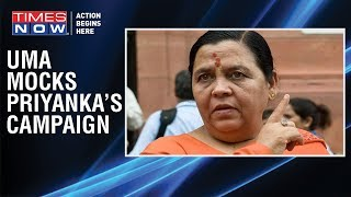 Union Minister Uma Bharti mocks Priyanka Gandhi for 'using' Hindutva - TIMESNOWONLINE
