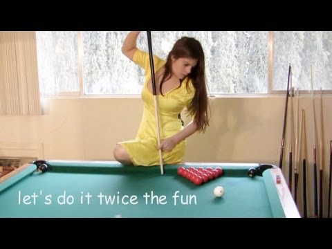 Seven trick shots with Mary Avina on Billiard Snooker Pool Table
