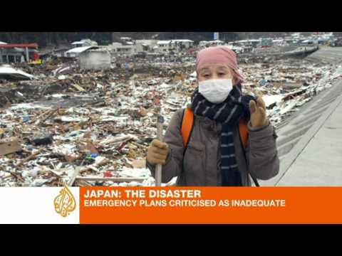 Tsunami destroyed Japanese village