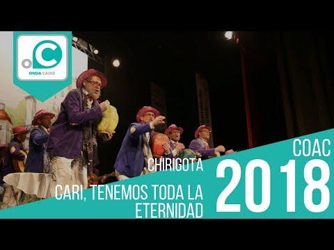 La agrupación Cari, tenemos toda la eternidad llega al COAC 2018 en la modalidad de Chirigotas. Primera actuación de la agrupación para esta modalidad.