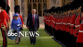 Trump becomes the 12th US president to meet Queen Elizabeth - ABCNEWS