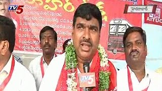 RTC Employees Union Hunger Strike at Indira Park : TV5 News - TV5NEWSCHANNEL