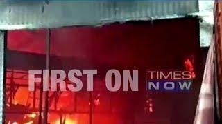 Massive fire gutted 'Bigg Boss Kannada' house - TIMESOFINDIACHANNEL
