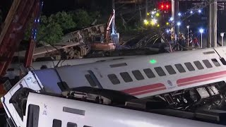 Desperate Search For Survivors After Train Derails In Taiwan | NBC Nightly News - NBCNEWS
