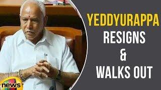 Karnataka CM Yeddyurappa Resigns And Walks Out Of Assembly | Fail in Floor Test | Mango News - MANGONEWS