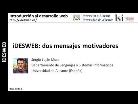 iDESWEB: dos mensajes motivadores