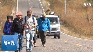 U.S.-Bound Honduran Migrant Caravan Grows - VOAVIDEO