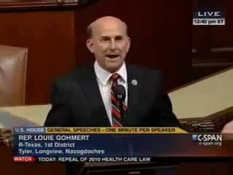 Gohmert Calls Out IRS & Urges Repeal of Obamacare