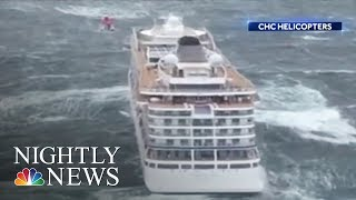 Stranded Cruise Ship Towed Safely To Norway Port After Dramatic Rescues | NBC Nightly News - NBCNEWS