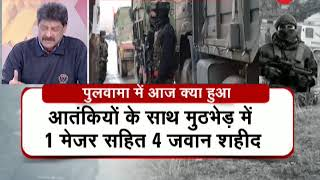 Situation tense in J&K: Encounter continues between security forces and hiding terrorists - ZEENEWS
