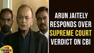 Finance Minister Arun Jaitley Responds Over Supreme Court Verdict On CBI | Arun Jaitley | Mango News - MANGONEWS