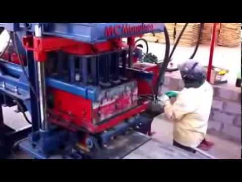 Máquina de Bloco Hidráulica modelo mch01. Contato: (62) 3283-6262