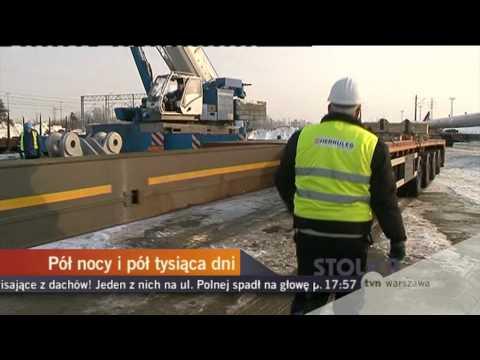 Stadion Narodowy - transport el. dachu 18.02.2010
