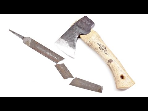 The Laziest Way to Sharpen Any Axe to Razor Sharp