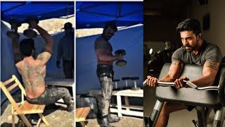 Ramcharan Heavy Workouts For Vinaya Vidheya Rama Movie At Shooting Spot - RAJSHRITELUGU