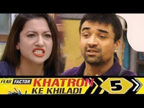 Ajaz Khan's UGLY FIGHT with Gauhar Khan on Khatron Ke Khiladi 5