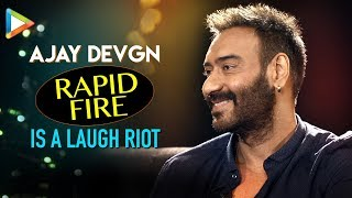 Ajay Devgn's HILARIOUS Questions for Ranveer Singh & Aamir Khan are LAUGH RIOT| Rapid Fire - HUNGAMA