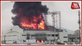 Massive Fire Breaks Out At A Theatre In Visakhapatnam; Fire Tenders On Scene - AAJTAKTV