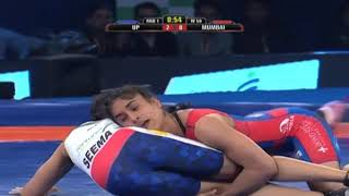 PWL 3 Day 5: Vinesh Phogat marks victory against Seema at Pro Wrestling League 2018 - ITVNEWSINDIA