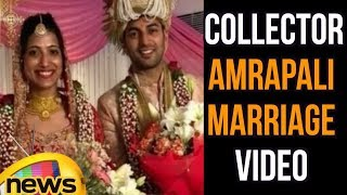 Visuals Of Warangal Collector Amrapali Marriage, Married To IPS Officer Sameer Sharma | Mango News - MANGONEWS