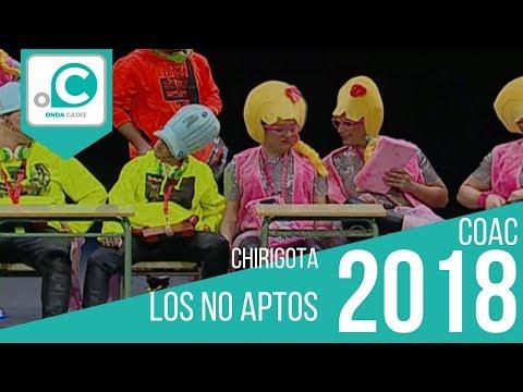La agrupación Los no aptos llega al COAC 2018 en la modalidad de Chirigotas. En años anteriores (2017) concursaron en el Teatro Falla como Al destierro, consiguiendo una clasificación en el concurso de Preliminares.