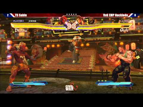 Street Fighter x Tekken 2013 Grand Final TS Sabin vs VxG EMP Nuckledu - Civil War 5 Tournament