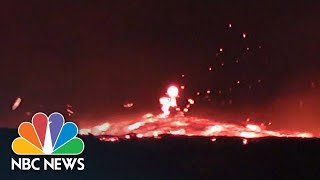 Fiery Torrent Of Fast-Moving Lava Flows From Hawaii's Kilauea | NBC News - NBCNEWS