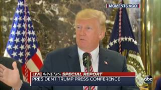 President Donald Trump takes questions on his response to Charlottesville violence: Special Report - ABCNEWS