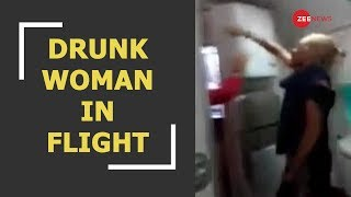 WATCH : Denied booze, drunk Irish woman abuses and spits at Air India crew - ZEENEWS